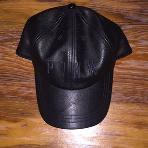 Faux Leather PINK hat